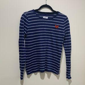 Lou & Grey linen long sleeve striped top